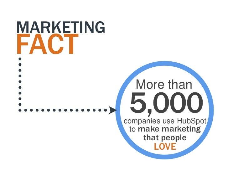 MARKETINGFACT               More than             5,000            companies use HubSpot             to make marketing    ...