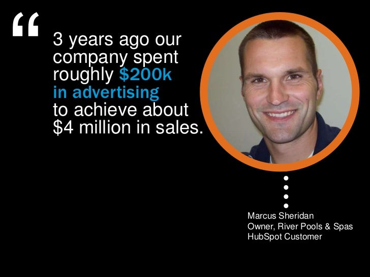 """""""   3 years ago our    company spent    roughly $200k    in advertising    to achieve about    $4 million in sales.       ..."""