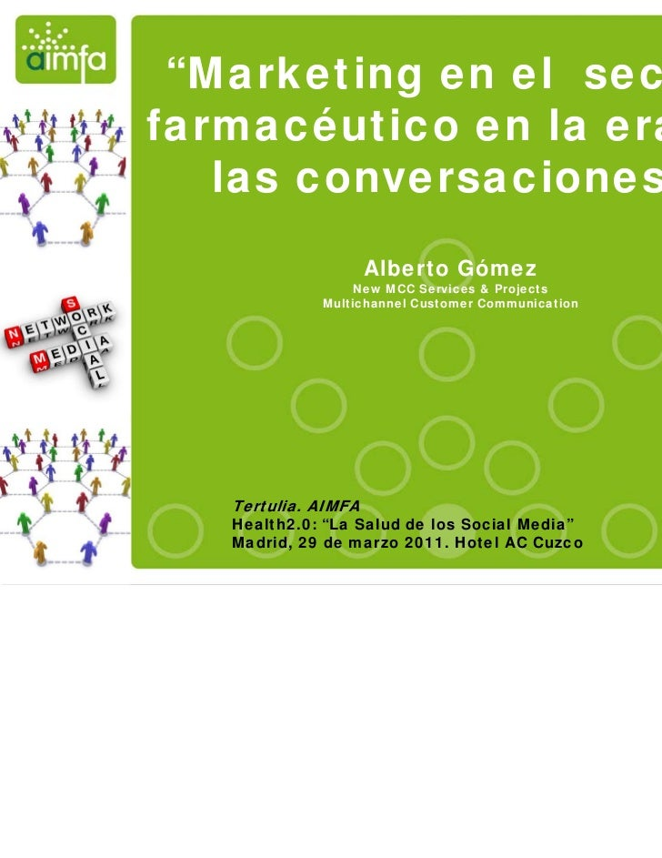"""Marketing en el sector                                farmacéutico en la era de                                   las con..."