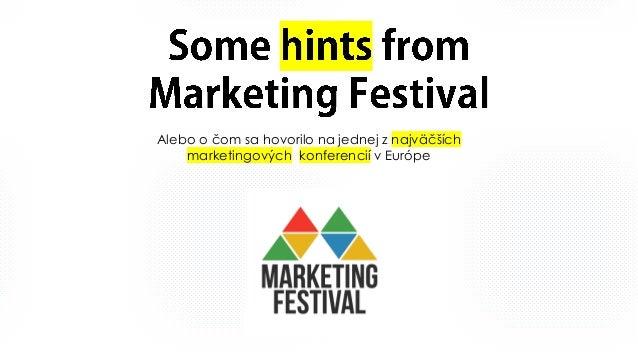 Alebo o čom sa hovorilo na jednej z najväčších marketingových konferencií v Európe
