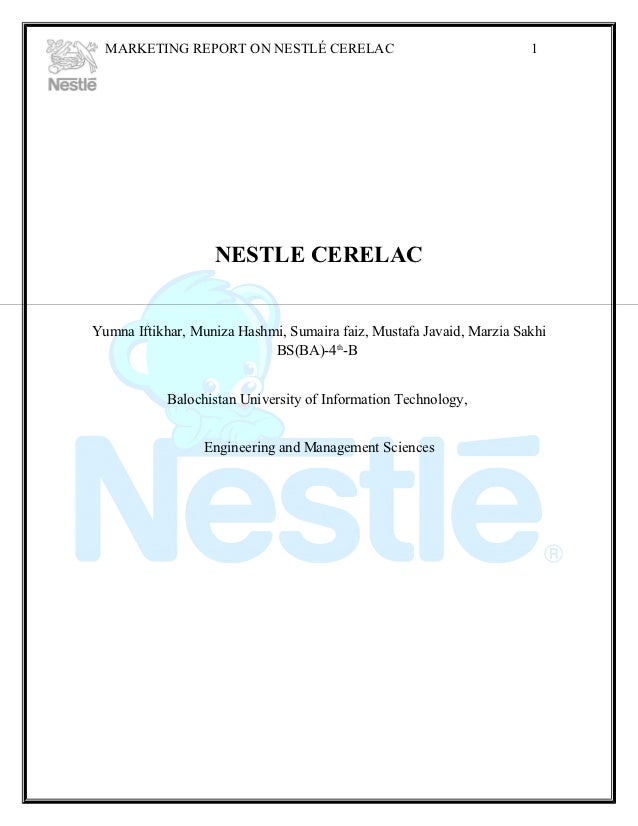 Marketing Plan of Nestle