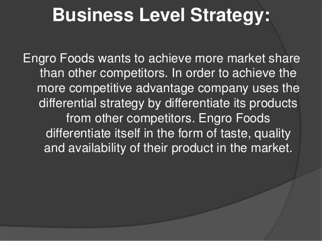 strategies of engro foods Engro foods in pakistan headquartered in karachi, engro foods was established in 2006 and has since built a leading position in the pakistani overall uht milk segment, including the specialised tea creaming segment.