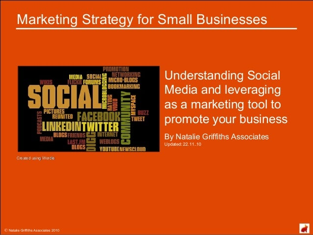 © Natalie Griffiths Associates 2010 Marketing Strategy for Small Businesses Understanding Social Media and leveraging as a...