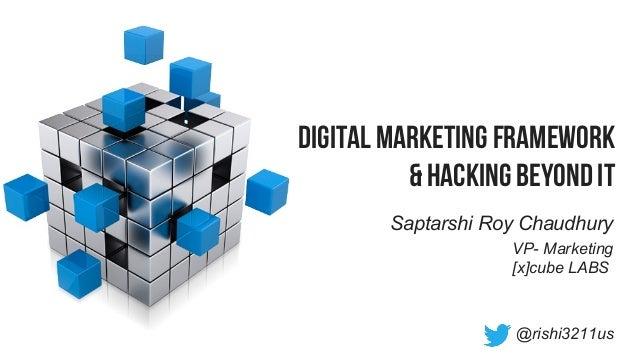 Digital Marketing Framework & Hacking Beyond it Saptarshi Roy Chaudhury @rishi3211us VP- Marketing [x]cube LABS