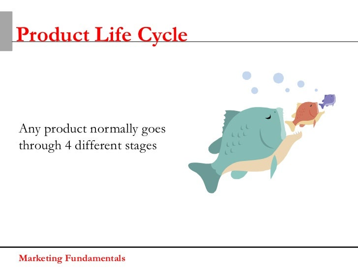 Product Life CycleAny product normally goesthrough 4 different stagesMarketing Fundamentals