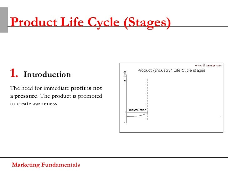 Product Life Cycle (Stages)1.   IntroductionThe need for immediate profit is nota pressure. The product is promotedto crea...