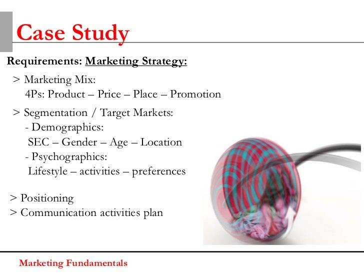 Case StudyPresentationsMarketing Fundamentals