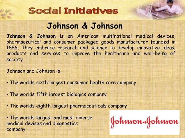 johnson and johnson csr activities
