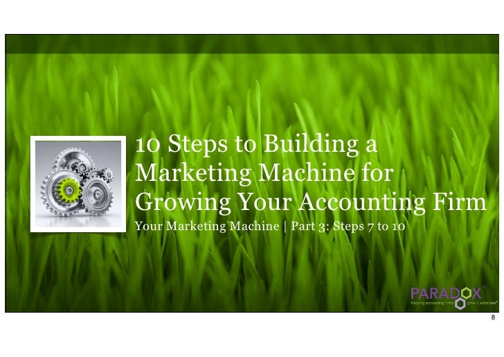 10 Steps to Building a Marketing Machine for Growing Your Accounting Firm Your Marketing Machine | Part 3: Steps 7 to 10  ...