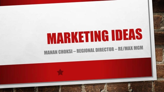 TWO KINDS OF MARKETING:• PERSONAL PROMOTION• LISTING PROMOTION