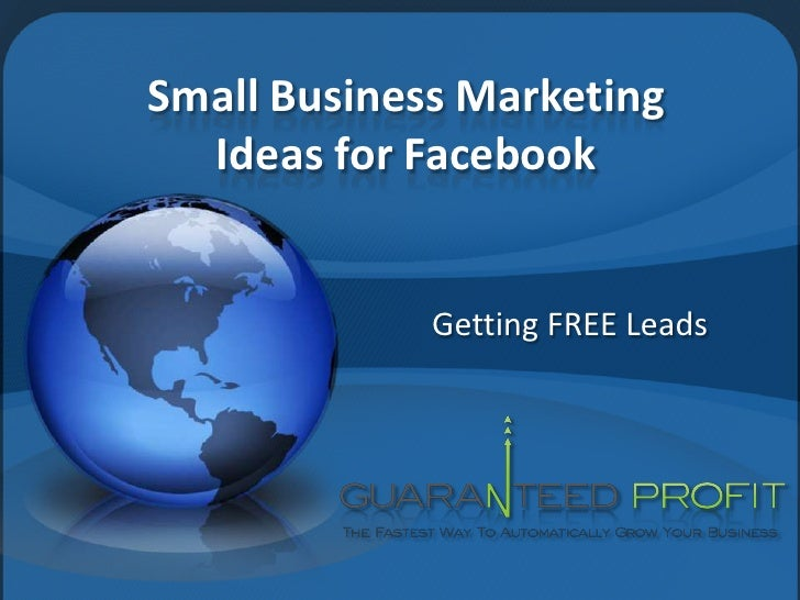 Small Business Marketing Ideas for Facebook<br />Getting FREE Leads<br />