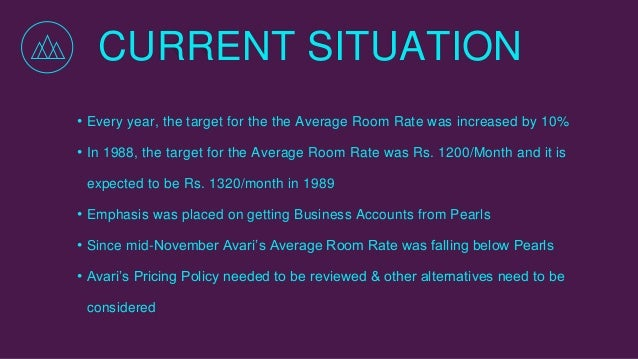 avari ramada hotel pricing hotel rooms essay Avari ramada hotel: pricing hotel rooms the management at avari seemed fine at not gaining the summer package share as long as their 80% occupancy target for the year was achieved occupancy for 8 months had been higher for pearl.
