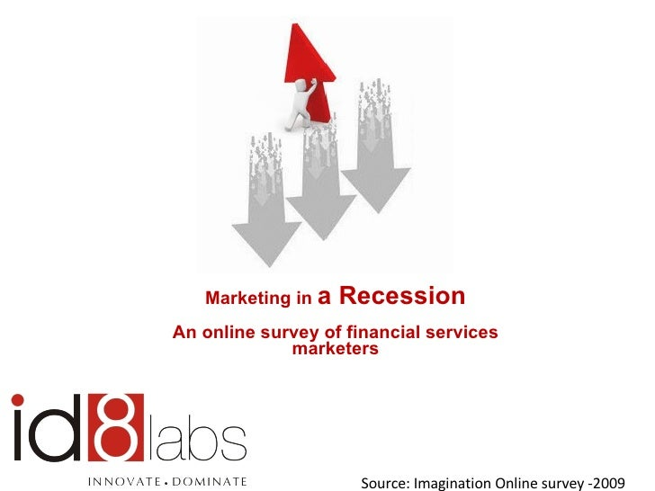 Marketing in  a Recession An online survey of financial services marketers Source: Imagination Online survey -2009