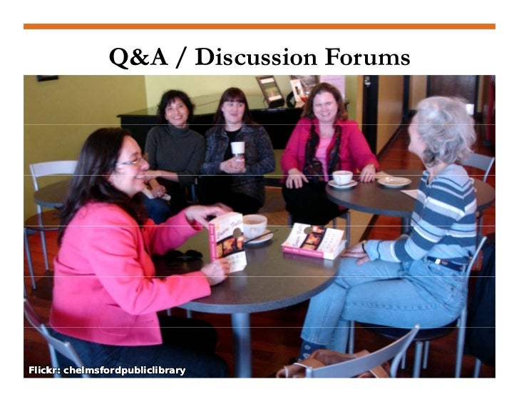 Participate in Q&A • Facebook   Discussions  • Yahoo!   Answers  • LinkedIn   Q&A and   Discussions