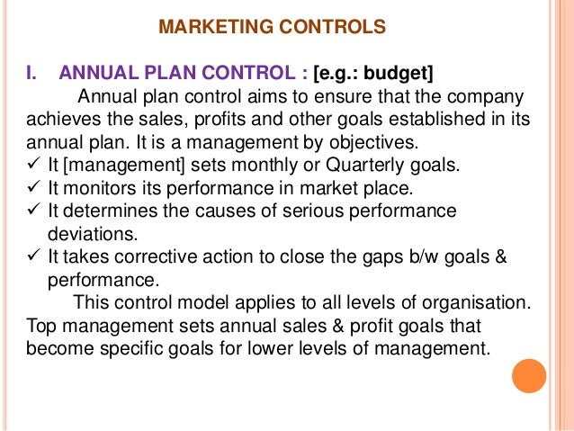 marketing plan and control Once you have identified the events and activities to target, incorporate your  marketing plan into your current time management system some people find it.