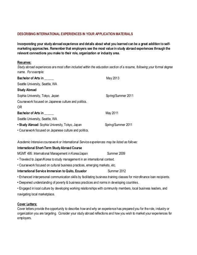 Assembly Line Resume Sample SlideShare  International Experience Resume