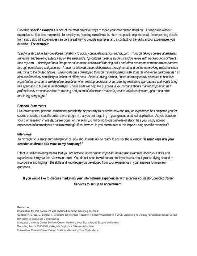Reasons Why You Need An International Internship On Your Resume University  At Buffalo CMC Career Compass  International Experience Resume
