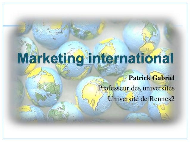 Patrick Gabriel Professeur des universités Université de Rennes2