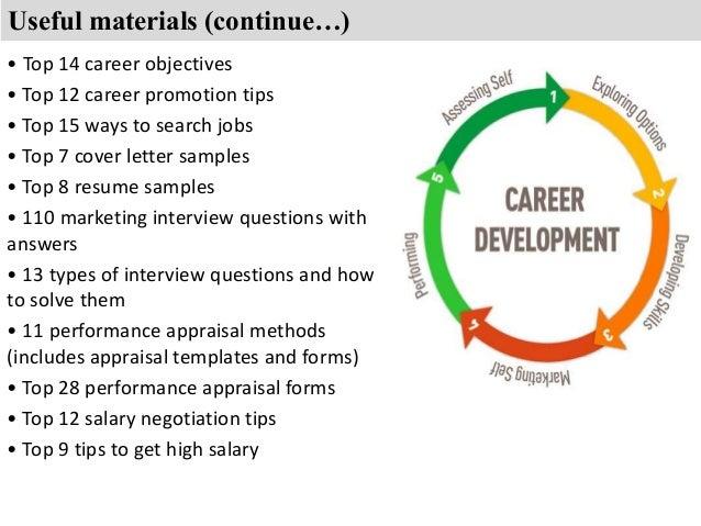 career objective marketing