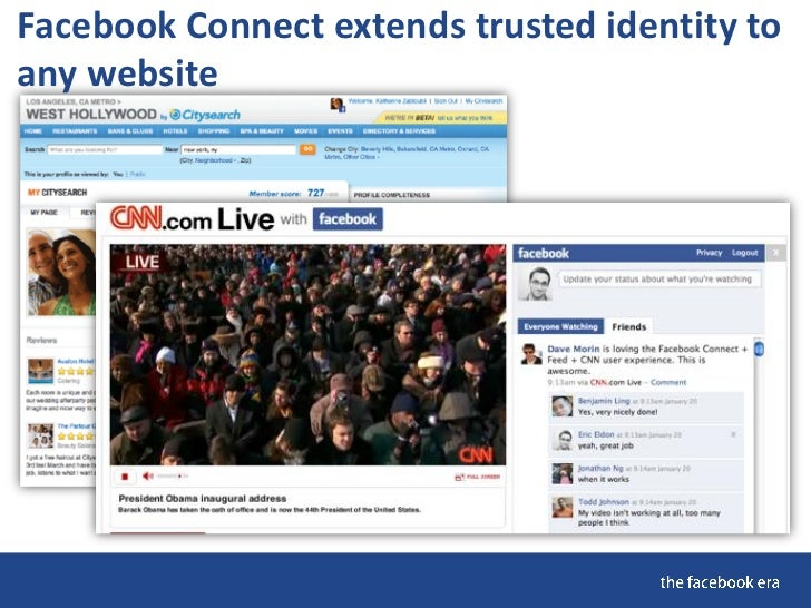 Facebook Connect extends trusted identity to any website