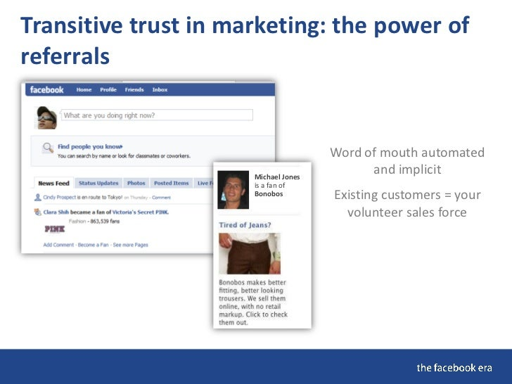 Transitive trust in marketing: the power of referrals                                         Word of mouth automated     ...