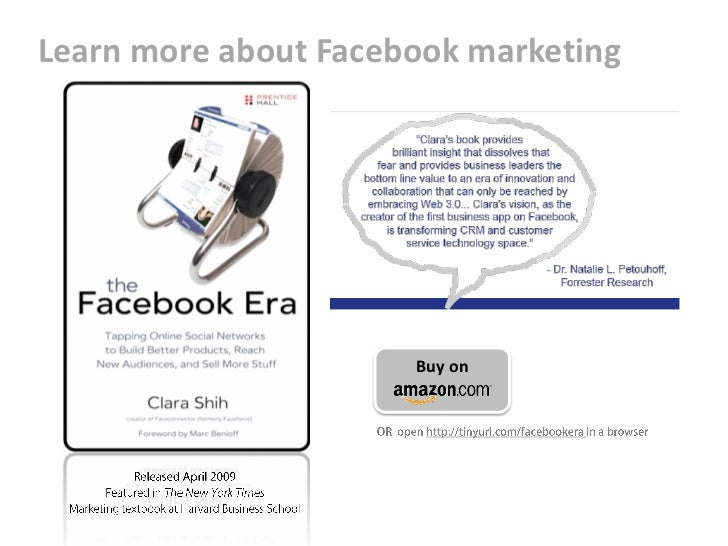 Learn more about Facebook marketing                           Buy on