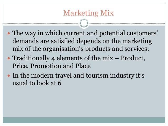 travel agency marketing mix