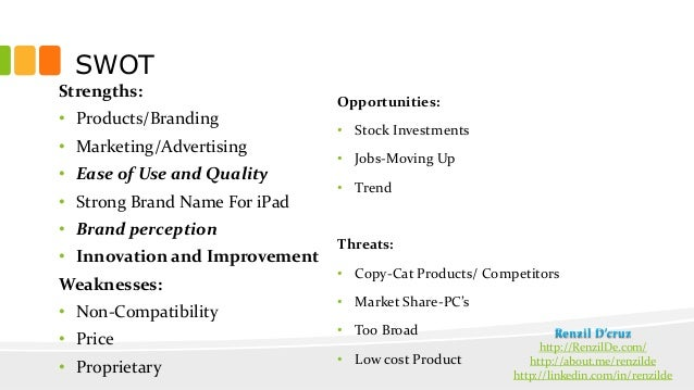 marketing mix of ipad The marketing mix comprises four main pieces that create the picture of a successful business price, place, promotion and product, known as the.