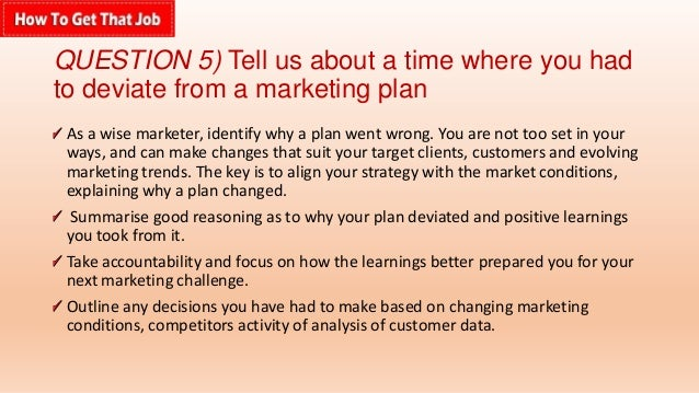 question - Marketing Manager Interview Questions And Answers