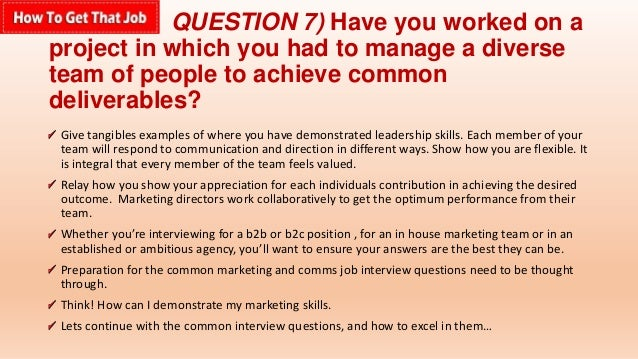 question - Most Common Interview Questions And Answers