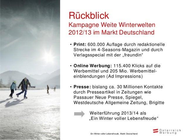 Marketingmix und -zieleMarkt Deutschland, Oktober 2013 – März 2014                                                  DM    ...