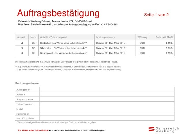 Ein Winter voller Lebensfreude Ankommen und Aufleben Winter 2014/2015 Markt Belgien Die Österreich W erbung freut sich auf...