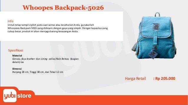 Whoopes Tote Bag-5028 Info Untuk tetap tampil stylish pada saat santai atau keseharian Anda, gunakanlah Whoopees Tote Bag ...