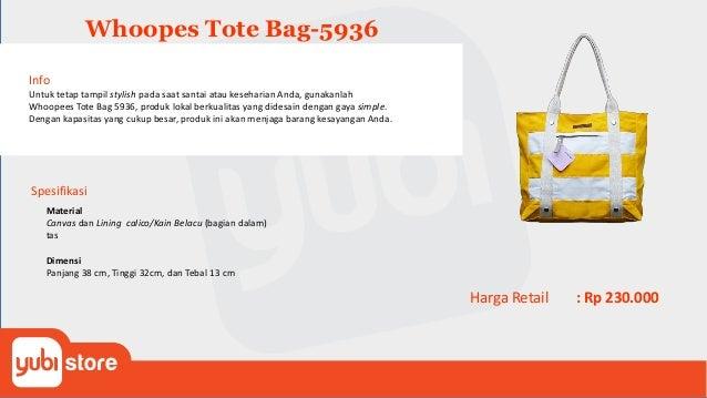 Etphis Tote Bag C203 Spesifikasi Material Tas trendi ini dibuat dari material canvas. Dimensi Panjang 45 cm, Lebar 7 cm, d...