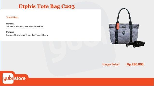 Tote Bag Etphis C204 Canvas Red Spesifikasi Material Tas trendi ini dibuat dari material canvas. Dimensi Panjang 32 cm, Le...