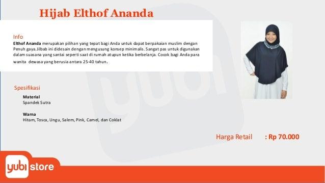 Hijab Elthof Aqila Info Elthof Aqila merupakan Jilbab ini didesain dengan mengusung konsep minimalis. Sangat pas untuk dig...