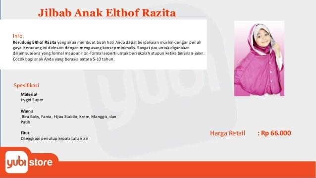 Elthof Info Kerudung Elthof Razita yang akan membuat buah hati Anda dapat berpakaian muslim dengan penuh gaya. Kerudung in...