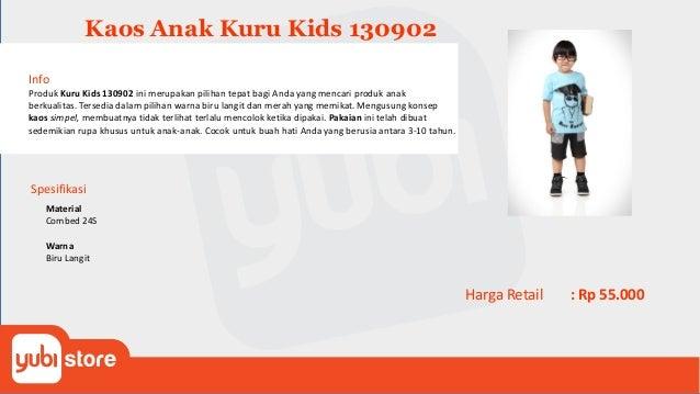 Kaos Anak Kuru Kids 130903 Info Produk Kuru Kids 130903 ini merupakan pilihan tepat bagi Anda yang mencari produk anak ber...