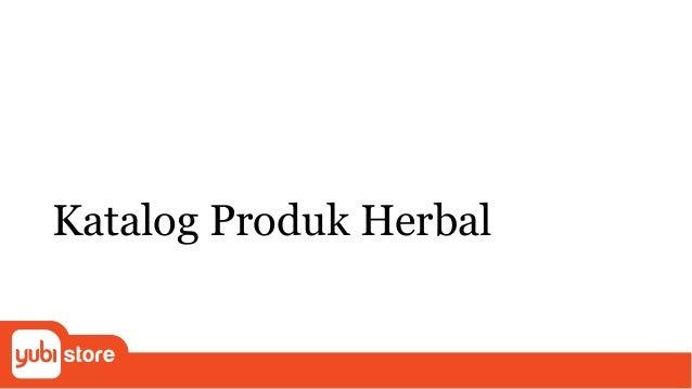 Katalog Produk Herbal