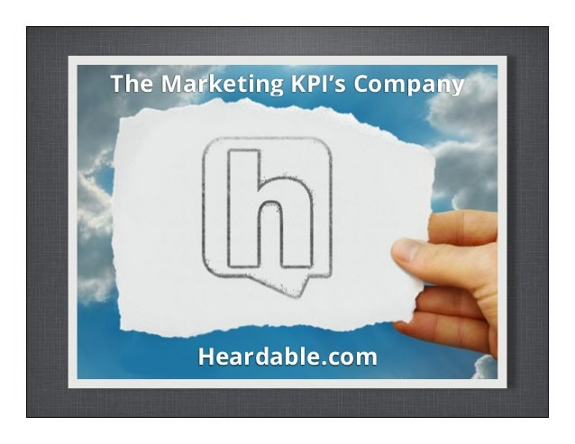 The Marketing KPI's Company  Heardable.com