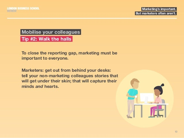 10 Marketing's important. But marketers often aren't. To close the reporting gap, marketing must be important to everyone....