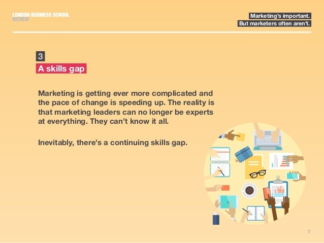 7 Marketing's important. But marketers often aren't. Marketing is getting ever more complicated and the pace of change is ...