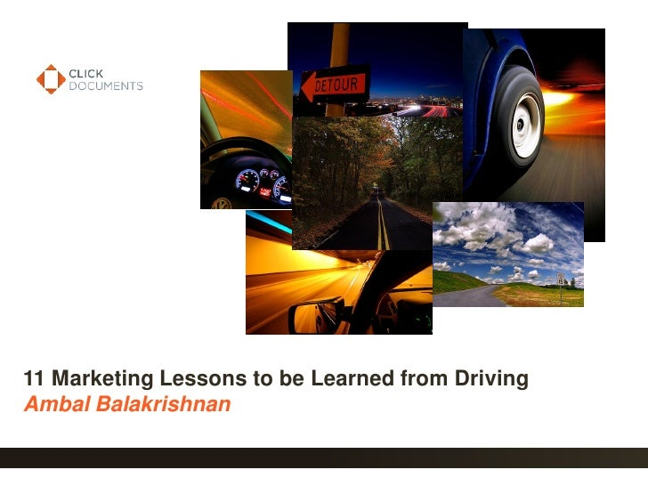 11 Marketing Lessons to be Learned from Driving Ambal Balakrishnan                                                    1