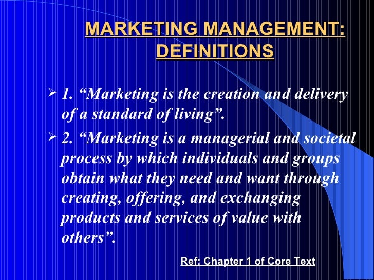 marketing is the delivery of standard of living The modern global society is placing an increasing emphasis on marketing   distributing, buying and selling significantly shape the standard of living and  global.
