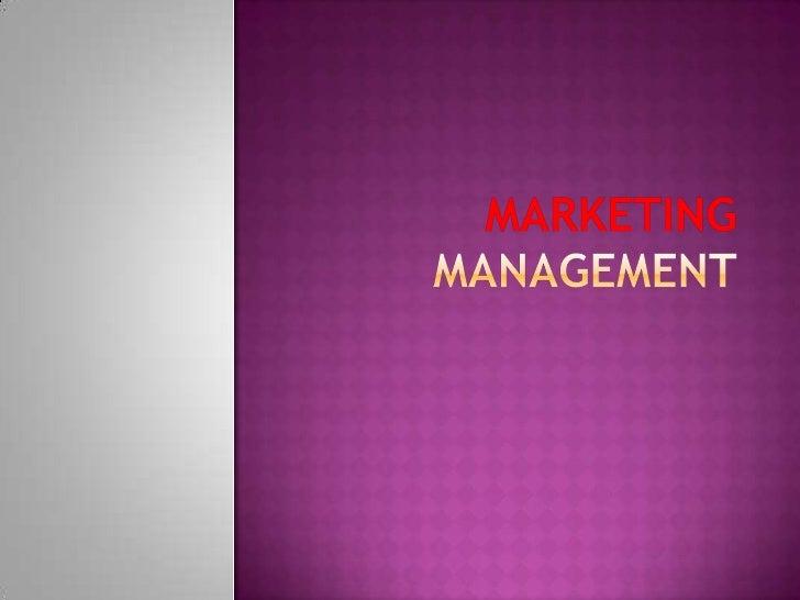 Marketing Management<br />
