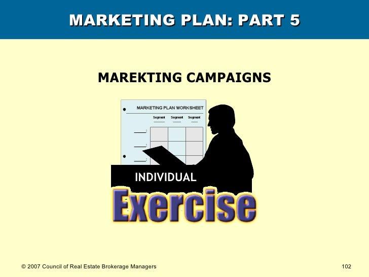 MARKETING PLAN: PART 5 MAREKTING CAMPAIGNS INDIVIDUAL