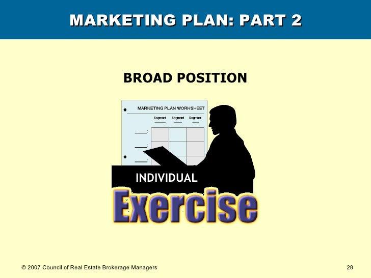MARKETING PLAN: PART 2 BROAD POSITION INDIVIDUAL