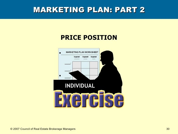 MARKETING PLAN: PART 2 PRICE POSITION INDIVIDUAL