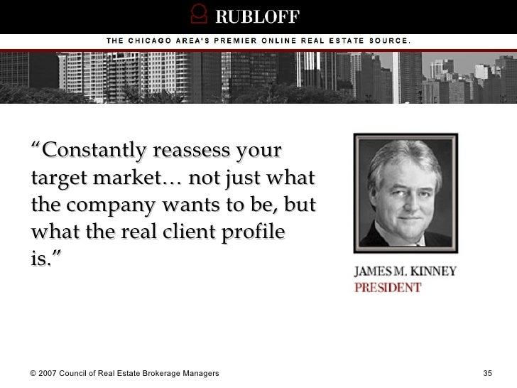 """<ul><li>"""" Constantly reassess your target market… not just what the company wants to be, but what the real client profile ..."""