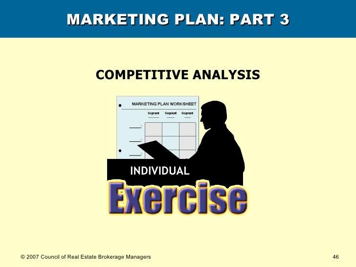 MARKETING PLAN: PART 3 COMPETITIVE ANALYSIS INDIVIDUAL